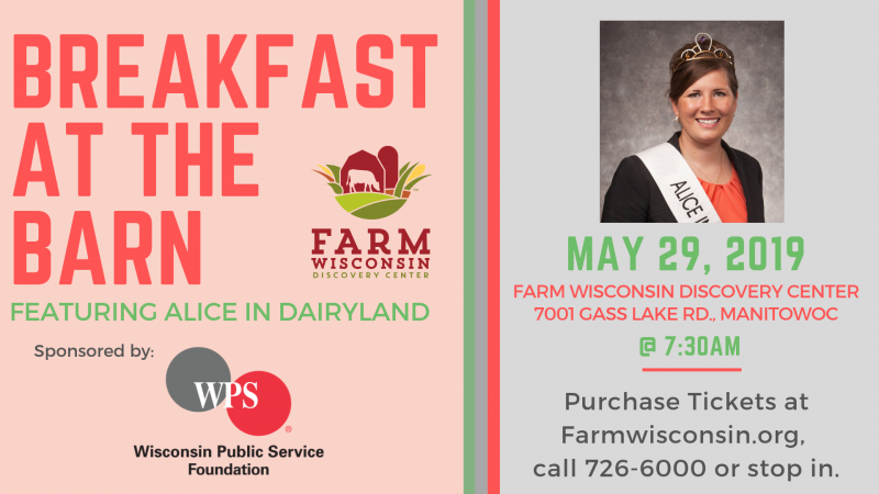 Breakfast at the Barn featuring Alice in Dairyland